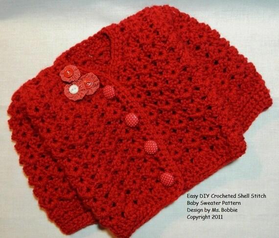 Baby Sweater Easy Crochet Tutorial Pattern Pdf 224 Best Seller