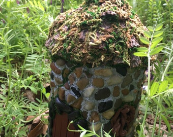 Fairy Potter house with a realistic living roof