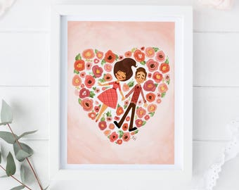 8.5x11 2018 Valentine's Day Print-Flower Patch