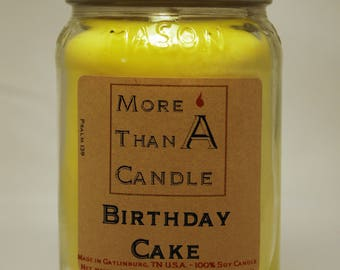 16 oz Birthday Cake Soy Candle