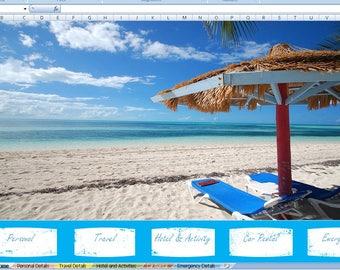 Vacation planner , Excel vacation planner , excel templates , vacation excel template , Family travel , vacation , travel , excel , sheet