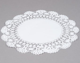 "50 - 8"" WHITE  Paper Lace Doilies   - Wedding Decor, Bridal Shower, Baby Shower, Scrapbooking, Large Doilies, DIY Bride"