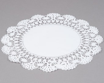 "100 - 12"" WHITE  Paper Lace Doilies   - Wedding Decor, Bridal Shower, Baby Shower, Scrapbooking, Large Doilies, DIY Bride"