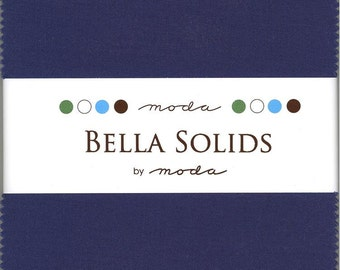 Bella Solids Blue Charm Pack, Set of 42 5-inch Precut Cotton Fabric Squares (9900PP-48)