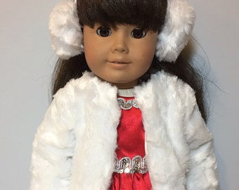 Fits like American Girl Doll Clothes or Fits Like American Girl Winter Coat Doll Dress - 18 inch Doll Clothes - AG Doll Clothes
