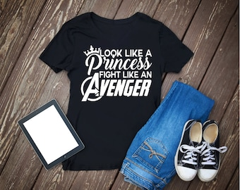 Look like a princess fight like avenger svg, dxf, png, jpg