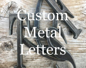 """3"""", 4"""", 5"""" - Any Size & Font - Steel Metal Letters and Numbers - Personalize"""
