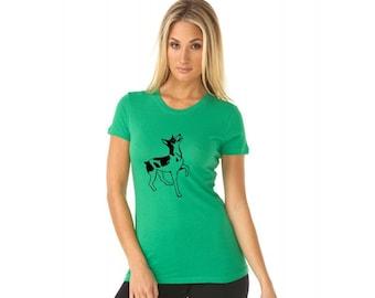 Rat Terrier Shirt, Cute Dog Breed Shirt Dog Lover Gift, Ladies Cotton Crewneck Tshirt, Soft Graphic Tee, Pet Lover Shirt, Rat Terrier Gifts