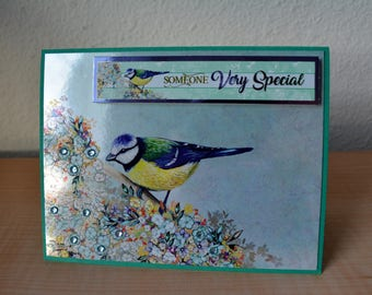 "Greeting card handmade, ""Someone Very Special"", birthday card, love, thinking of you, mother's day card"