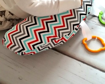 Organic Tummy Time Pillow, Chevrons