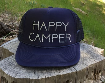 Happy Camper hat-happy camper-camping hat-camping-camping apparel