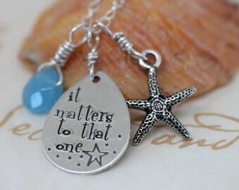 starfish story - teacher gift - adoption necklace - starfish necklace - Christmas idea for teacher
