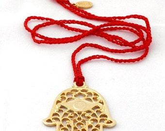 Hamsa Lucky Charm Handmade Necklace