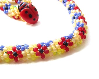 Beading Tutorial - 32 Daisychain Rope, DIY Necklace Pattern