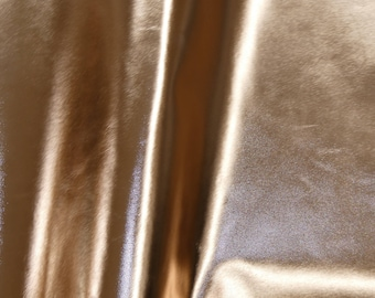 """Smooth Metallic Leather 12""""x12"""" ROSE Gold Foil Cowhide 2.25-2.5 oz / 0.9-1 mm PeggySueAlso™ E2845-19 Full hides available"""