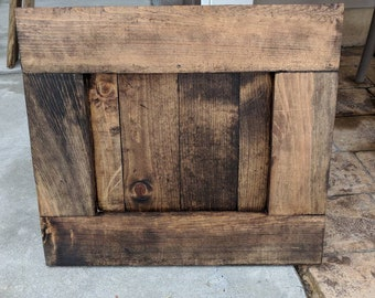 Custom made wood frame