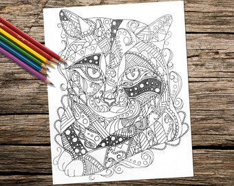 Coloring Pages Canadian Animals : Adult coloring book printable coloring pages coloring pages