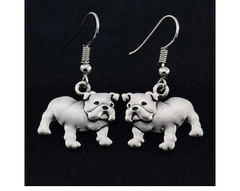 Bulldog Charm Earrings