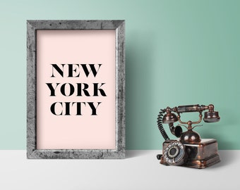 NYC Print, New York City, NYC art, New York Poster, Printable NYC, City Poster, New York Print, New York Wall Art, travel poster, wall decor