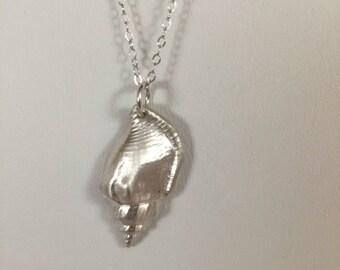 Pendant, Silver Clay, Fine Silver Shell