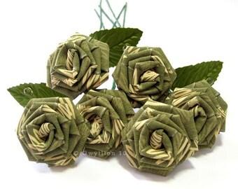 Fern Green Rose Bouquet