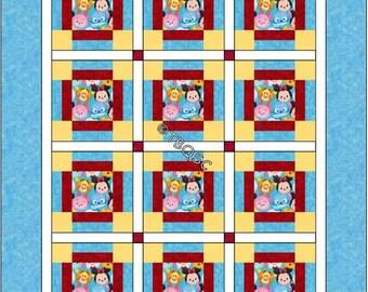 Disney Tsum Tsum Cuties Baby Crib Quilt - Toddler Lap Blanket - Baby Shower Gift
