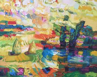 "Fedir Panchuk original oil painting on canvas ""Summer 1"""