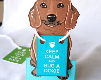 Keep Calm Dachshund - Desk Decor Paper Doll
