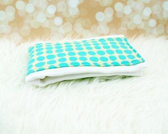 Baby Burp Cloth (Aqua Dots) ||| burp rag, baby burp cloths, burping rag, baby shower gift, baby gift, new baby gift