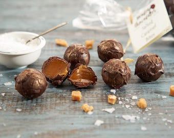 Salted Caramel Chocolate Truffle Bites