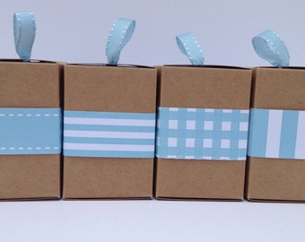 Narrow Aqua Paper Ribbon in Pattern of Your Choice