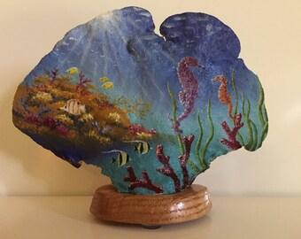 Original oil painting. 'Under the Sea'