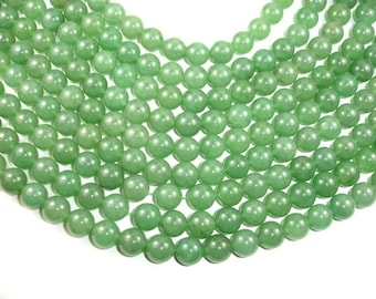 Green Aventurine Beads, Round, 12 mm, 15.5 Inch, Full strand, Approx 33 beads, Hole 1 mm, A quality (249054005)