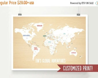 On sale customized world map adventure map travel map on sale customized world map adventure map travel map travel poster world gumiabroncs Choice Image