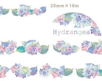1 Roll Limited Edition Washi Tape: Hydrangea Flower