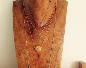 "Necklaces three ""sea urchins Moon"""