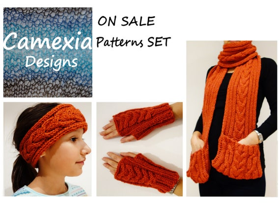 Pocket Scarf Knitting PATTERN Chilly Chili Scarf/Ribbed