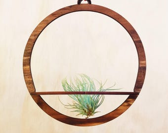 hanging airplant planter, Himmeli drop, Himmeli, mobile, air plant, hanging plant, planet mobile