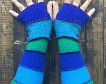 Fingerless Gloves Made from Recycled Knit Sweaters Unique Best Friend Gift
