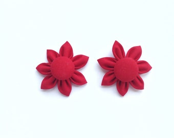 Mini Flower Bow Pigtails Hair Accessory