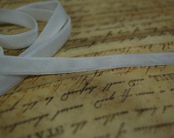 3/8inch Marshmallow White Velvet Ribbon