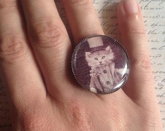 Elegant Cat - ring