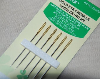 GOLD EYE CHENILLE Sewing needles- pack of 6