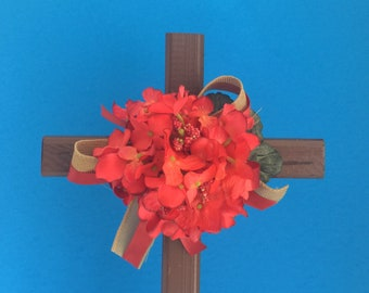 Cemetery cross, grave decoration, memorial cross, Floral Memorial, flowers for grave, cemetery flowers, memorial flowers