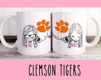 Best Friend Long Distance Coffee Tea Customized Disney Clemson Tigers
