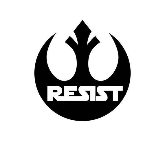 Star wars rebellion resist 3 decal rebel symbol resistance bumper sticker car laptop computer window water bottle sticker vinyl decal