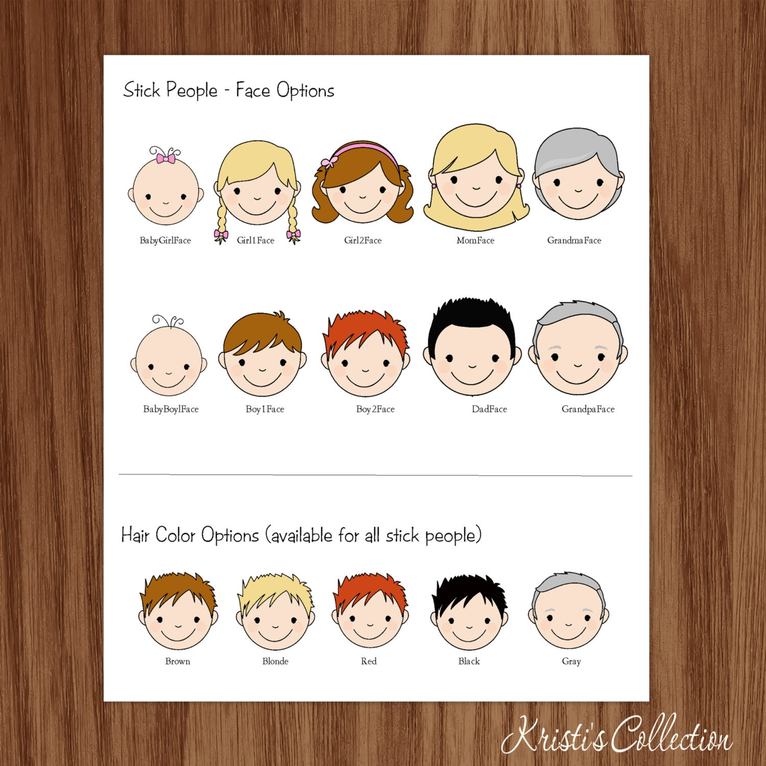 Family Calling Card Gift Inserts Enclosures Stickers, Personal ...
