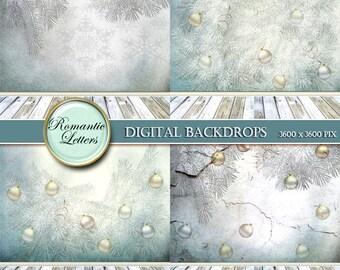 Christmas Digital Photo Backdrop Digital  Scrapbook Paper pack background for Newborn Baby digital photography backdrop background