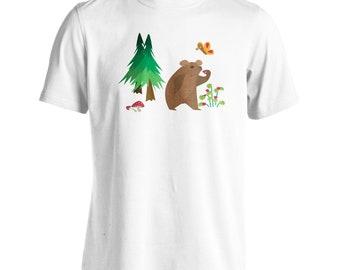 Bear in habitat Novelty Funny Men's T-Shirt v963m