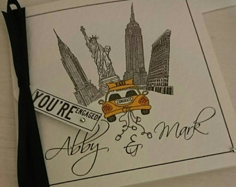 New York City Engagement Card
